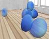 {AB} FLoor Blue Balloons
