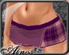 {A}Violet Plaid Short II