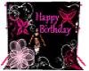 Happy Birthday Back Drop