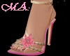 *Pink&Gold Flowers Shoes