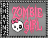 """Zombie Girl"" HP Sticker"