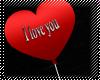 ! i love u balloon