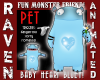 BABY BLUE MONSTER  PET!