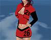 black n red short set