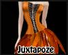 Orange Feather Dress