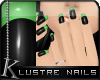 K| Lustre Glass: Green