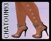 Silver side leg stars L