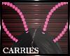 C Bunny Ears Pearls Pink