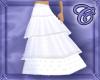 White Layered Long Skirt