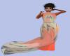 [B] Coral Pant Suit