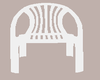 (L) Plastic White Chair