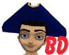 Navy Tricorne Hat