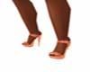 Orange Heel Shoe's