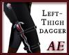 Ruby Steel Dagger - L