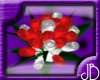 (JB) red&white Bouquet