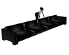 {JV} Black Latex Couch