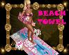 PINK N BLUE BEACH TOWEL