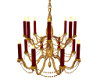 Red n Gold Chandelier