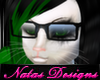 nerd glasses black F