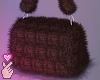 e fuzzy bag - brown