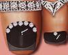 Feet Silver Rings Black