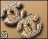 Channel Earrings  G