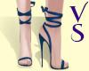 VS - C Blue Tie Up Heels