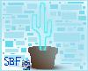 Blue glowing cactus prop