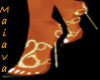 Gold Snaked Heels