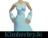 Pretty In Teal Ball Gown