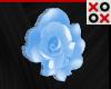 Blue Rose Hair Clip - L
