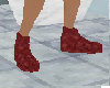 (pi) red suede shoes