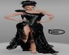 NM Black Rose gown