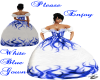 white&Blue flamed gown