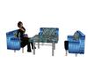 Blue gem dance table