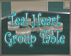 Teal Heart Group Table