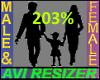 203% Tall