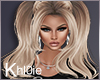 K pigtails blonde lux