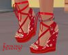 christmas red wedges