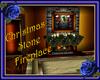 Christmas Stone Fireplac