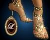 LIZ golden heels