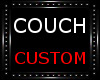 Black teal couch
