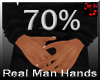 real man small hands 70%