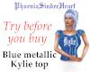 Blue metallic Kylie top