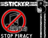 Stop Piracy Sticker
