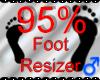 *M* Foot Resizer 95%