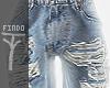► Denim Jeans Rolled