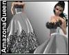 White Silver Gown Sparkl