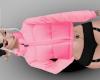 Pink puffer coat