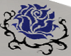Blue Rose Neck Tattoo